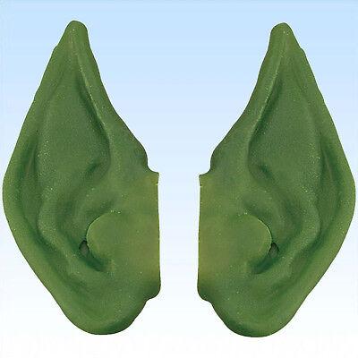 Grüne Elfenohren Spitzohren für Kostüm Waldschrat grün Elfe Faschingskostüm