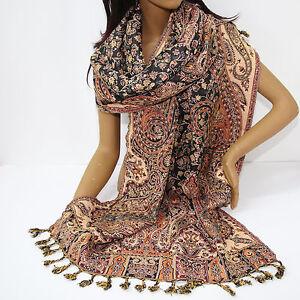 Sciarpa-stile-classico-orientale-Lunga-sciarpa-Orientale-stola-di-jacquard-india