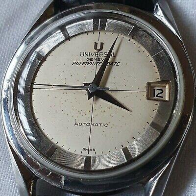 Vintage Universal Geneve Polerouter Date  Automatic 28 Jewels Men