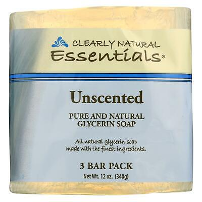 Glycerine Bar Soap, Clearly Natural, 4 oz 3 pack Unscented (Clearly Natural Glycerine Soap)