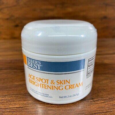 New Sealed Baker's Best Age Spot & Skin Brightening Cream 2oz EXPIRED
