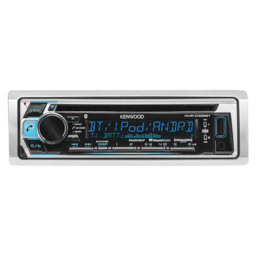 Kenwood KMR-368BT Bluetooth Marine Boat CD MP3 USB iPod iPhone Stereo Receiver