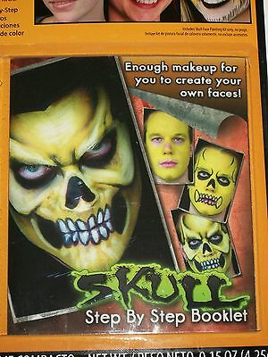 Halloween Skull Face Painting Kit Costume Makeup Theater Stage Tiger Butterfly