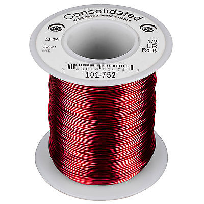 Consolidated 22 Awg Magnet Wire 12 Lb. 254 Ft.