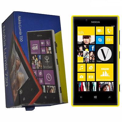 Nokia Lumia 720 Windows (BNIB Nokia Lumia 720 8GB Windows Mobile 8 Yellow Factory Unlocked 3G Simfree New)