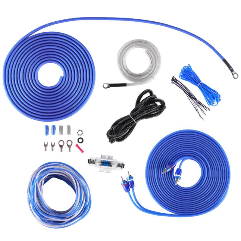 NEW SKAR AUDIO 8 GAUGE 800 WATT OFC AMPLIFIER WIRING KIT W/ RCA (SKAR8MANL-OFC)