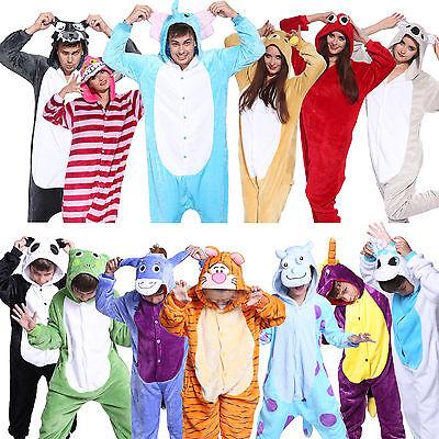 Hot Unisex Adult Pajamas Kigurumi Cosplay Costume Animal Sleepwear S-XL](Adult Pj)