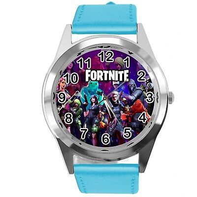 FORTNITE VIDEO GAME CHAPTER HEROES BLUE LEATHER STEEL CD DVD PS WATCH