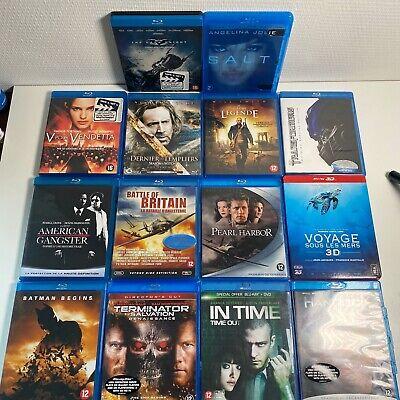 Lot de 13 films Blu-Ray + 1 steelbook (CD2) - bon état à correct- FR