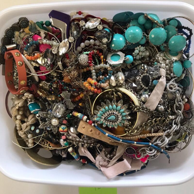 10+ LBS CRAFT Jewelry Mixed Lot Harvest Junk Broken Tangle Wear Costume Lot #124