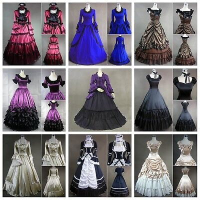 Medieval Victorian Vintage Lolita Dress Wedding Gown Halloween Costume Fancy Lot](Halloween Wedding Fancy Dress)