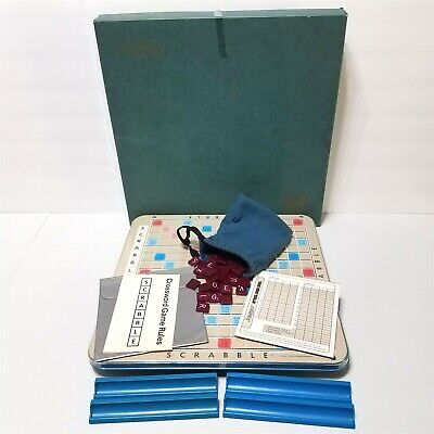 Vintage 1977 Sechow & Righter Deluxe Edition SCRABBLE Crossword Game Turntable