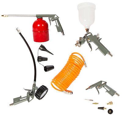 13 tlg Druckluft Zubehör Set für Kompressor Reifendruck Sprühpistole Lackieren (Luft Kompressor Zubehör)