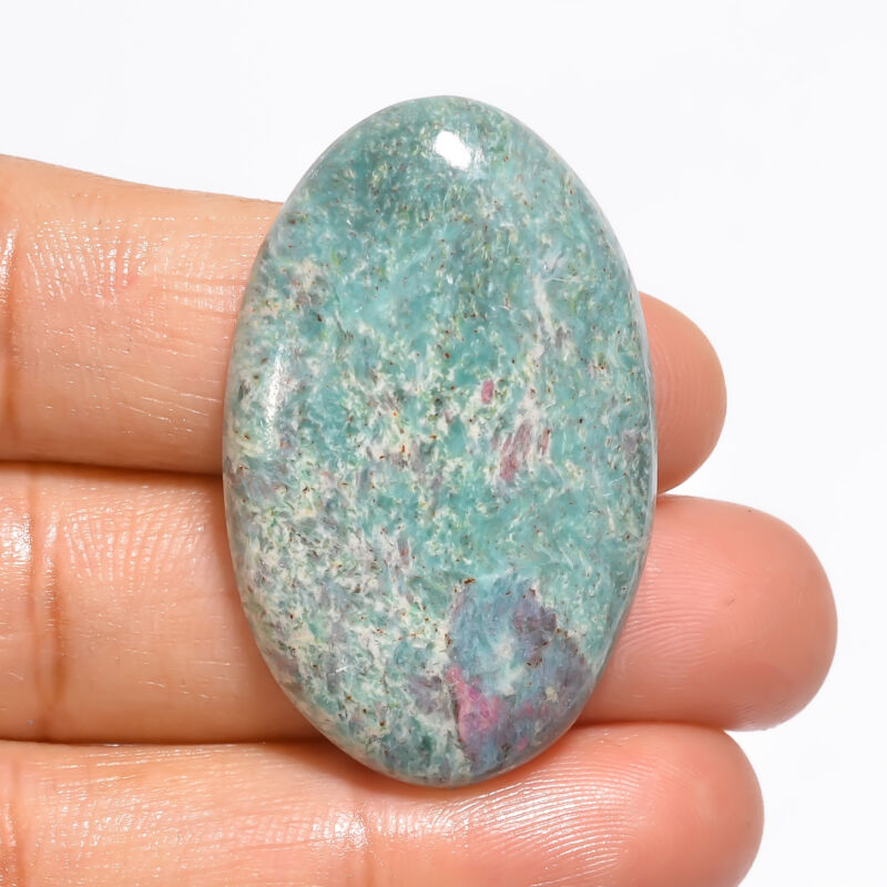 Natural Ruby Fuchsite Oval Shape Cabochon Loose Gemstone 45 Ct 38X23X6mm EE19082