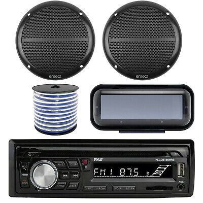 PLCDBT95 Marine Boat USB Bluetooth Radio, 6.5