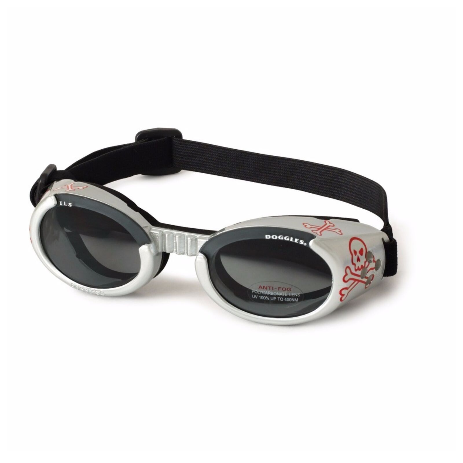 Doggles ILS SkullSmoke Small  GogglesSunglasses  Eye Protection for Dogs