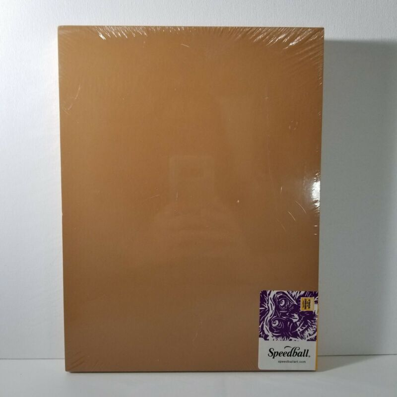 "Speedball 4314 9x12"" Mounted Lino Linoleum Block for  Carving and Printing NIP"