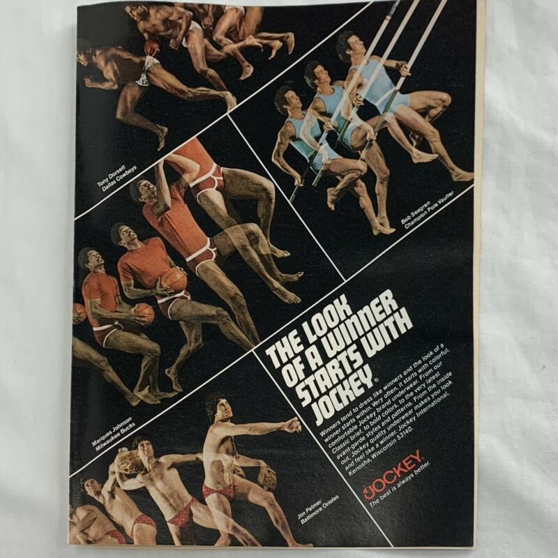 "Vintage 1978 Tony Dorsett Dallas Cowboys Jockey Magazine Print Ad 8"" x 10"""