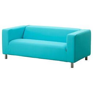 Ikea Klippan Cover Granan Turquoise 2 Seat Sofa Loveseat Slipcover Blue Aqua New Ebay