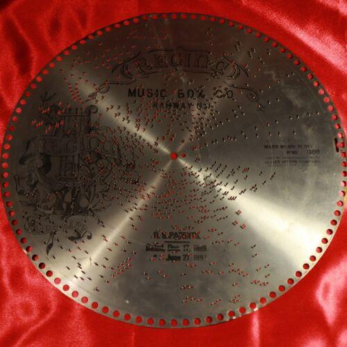"Antique REGINA Music Box 15.5"" Metal Disc #1166 NEARER MY GOD TO THEE Hymn"