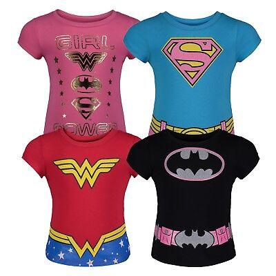 Toddler Wonder Woman Shirt (Warner Bros. Toddler Girls' 4pk T-Shirts Batgirl Supergirl Wonder)
