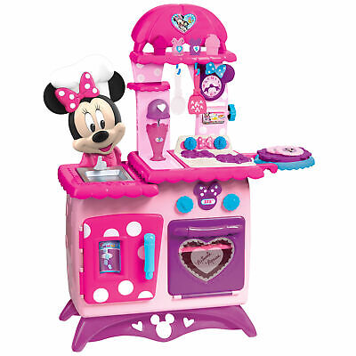 Kitchen Pretend Play Set Minnie Mouse Toddler Kids Toy Girls Cooking Pink