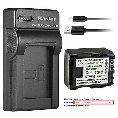 Kastar Battery Slim USB Charger for Canon BP-809 & Canon VIXIA HF M301 HFM301