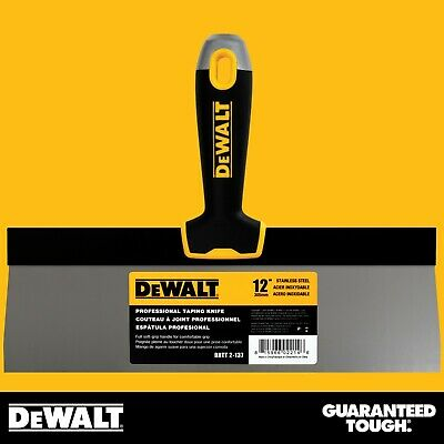 Dewalt Taping Knife 12 Stainless Steel Drywall Taping Tool Lifetime Warranty