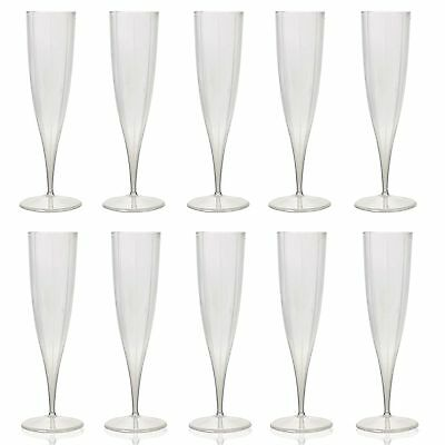 10x 230ml Champagne Flutes Plastic Disposable Party Wine Dine Cups Toast Xmas](White Plastic Champagne Flutes)