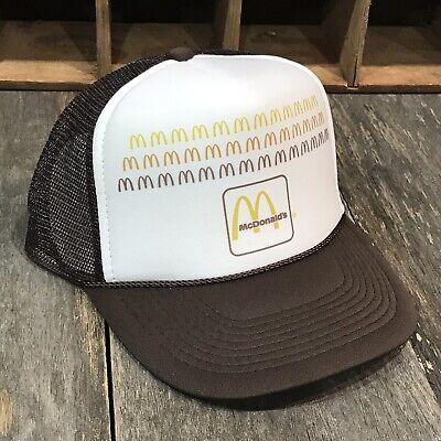 70s Hat (McDonalds Trucker Hat Vintage 70s 80s Mesh Back Cap Snapback Brown )