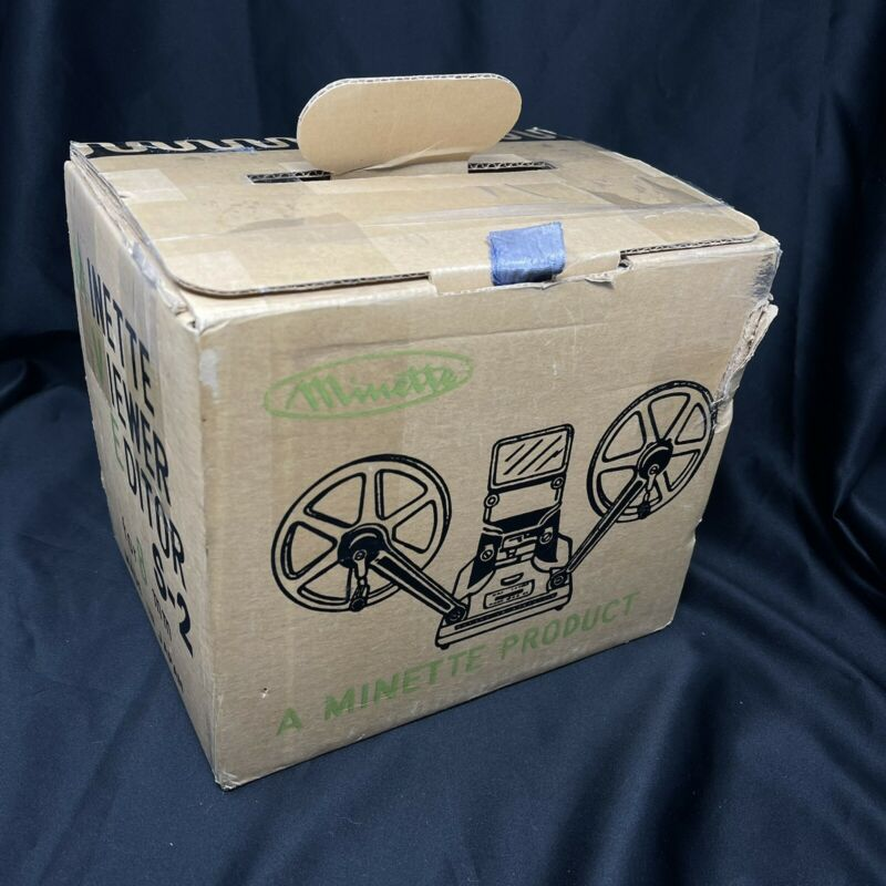 Vtg New Old Stock MINETTE SUPER 8 VIEWER S-2 with box and manual