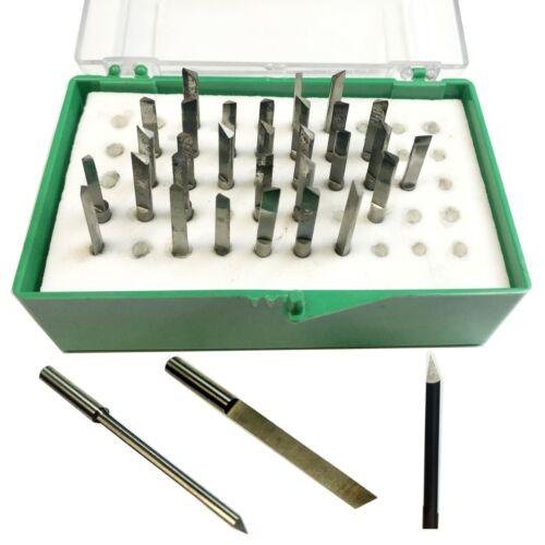 30 Carbide Mini graver lot engraver Bit Watchmaker Jewelry Lathe Graver cnc