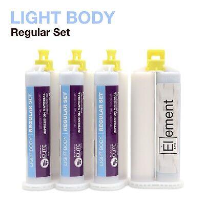 Element Light Body Vps Pvs Dental Impression Material Regular Set 50ml Cartridge