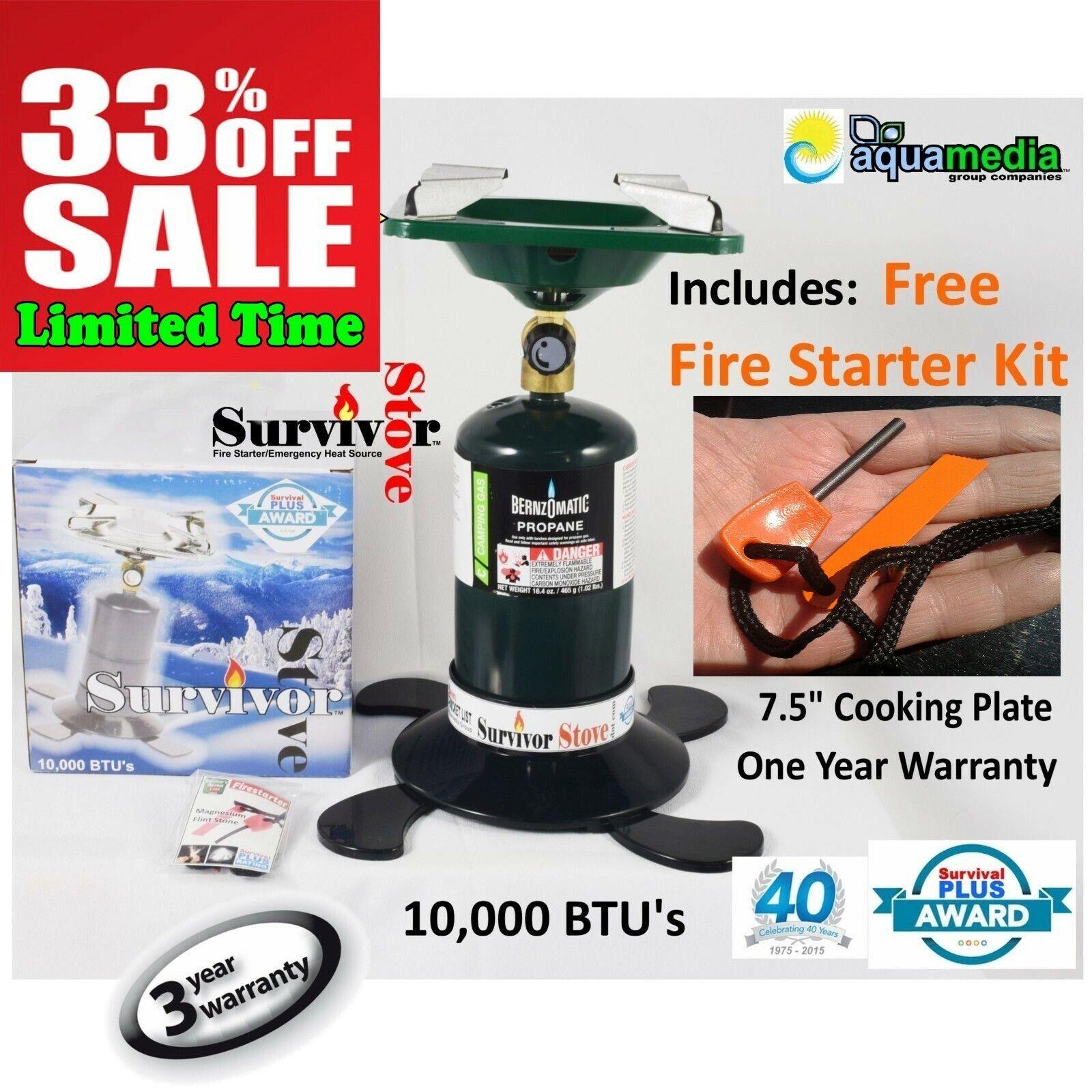 Portable Propane Gas Burner Coleman-Style 7