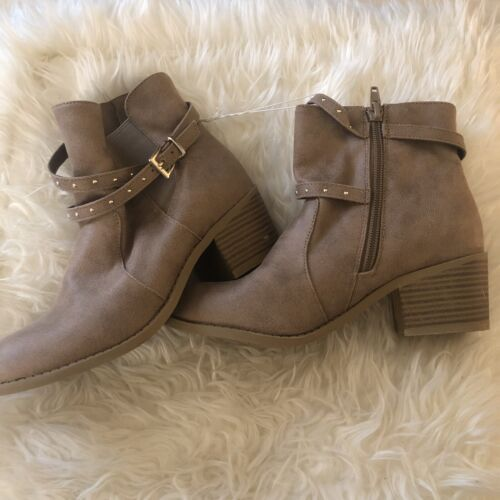 new girls boots size 3 taupe