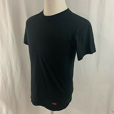 Supreme Hanes Comfort Soft Solid Black T-Shirt Men's Small S Top Short Sleeve