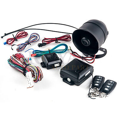 MICRO 1-Way Car Alarm Security System Keyless Entry with 2 Key Fobs