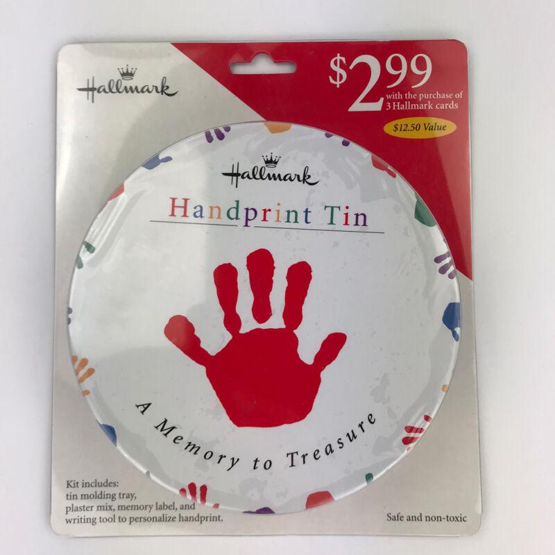 Hallmark Handprint Tin A Memory to Treasure Molding Tray Plaster