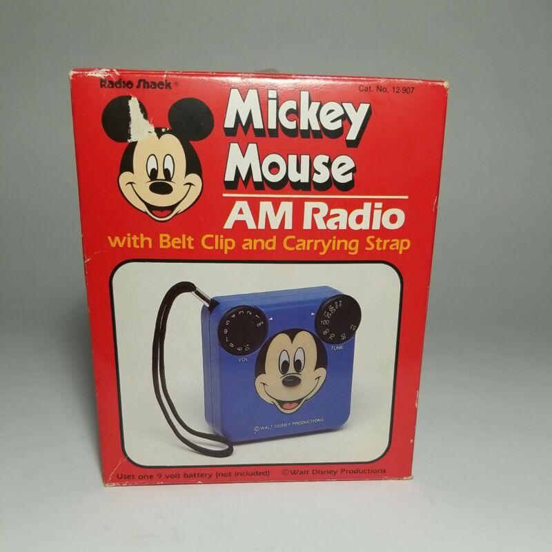 Disney Radio Shack Mickey Mouse AM Radio Brand New Vintage