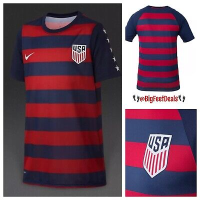 Careful Nike Womens Size Large Dri-fit Usa Red White Blue Soccer Jersey New Nwt $90 Activewear Soccer-national Teams
