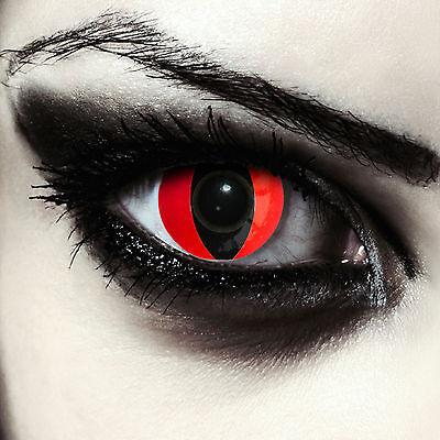 Rote Katzen Drachen Kontaktlinsen für Halloween Karneval Kostüm