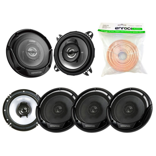 "6.5"" 300W Kenwood Speakers, 4"" Kenwood 2-Way Speakers, 50FT 18G Of Speaker Wire"