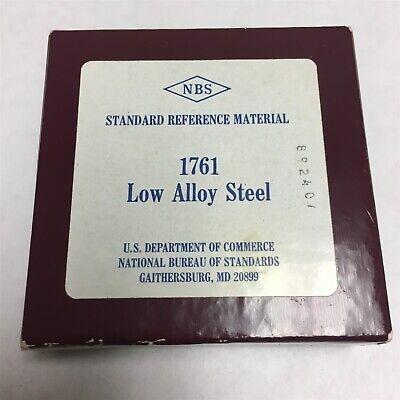 New Sealed Nbs Standard Reference Material 1763 Low Alloy Steel Nist R6