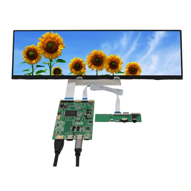 Type C HD MI LCD Controller Board 12.6 in NV126B5M-N41 1920X515 IPS LCD Screen