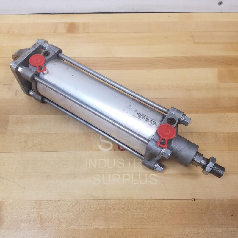 "Rexroth 0822244007 Pneumatic Cylinder, 8"" Stroke, 3"" Stroke - USED"