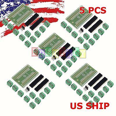 5X Screw Terminal Expansion Adapter Board Shield 4 Arduino Nano V3.0 ATMEGA328P