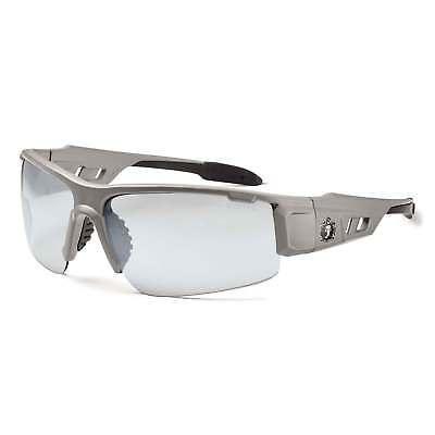 Skullerz Dagr Safety Glasses with Indoor Outdoor Mirror Lens and Matte Gry Frame ()