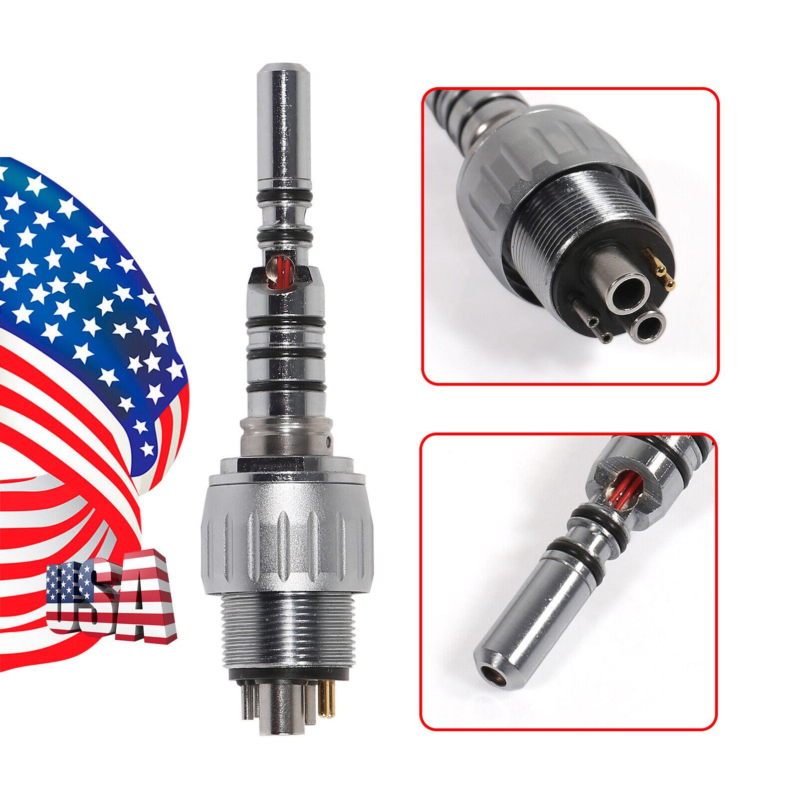 3pc USA Dental Quick Coupler Coupling Swivel 6-hole 6 Pin Fit Multiflex LUX - $103.20