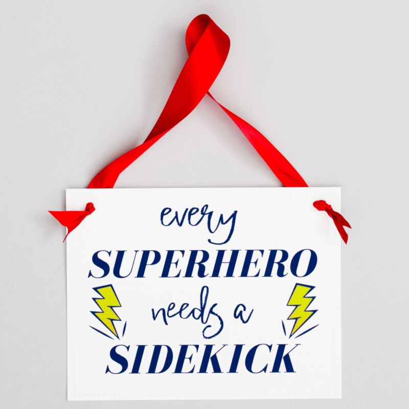 Every Superhero Needs A Sidekick Baby Announcement Sign Brother Sister Pregnancy
