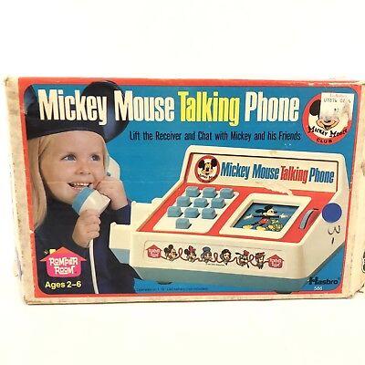 Vintage Romper Room Mickey Mouse Club Talking Phone In Original Box (Original Mickey Mouse Club)